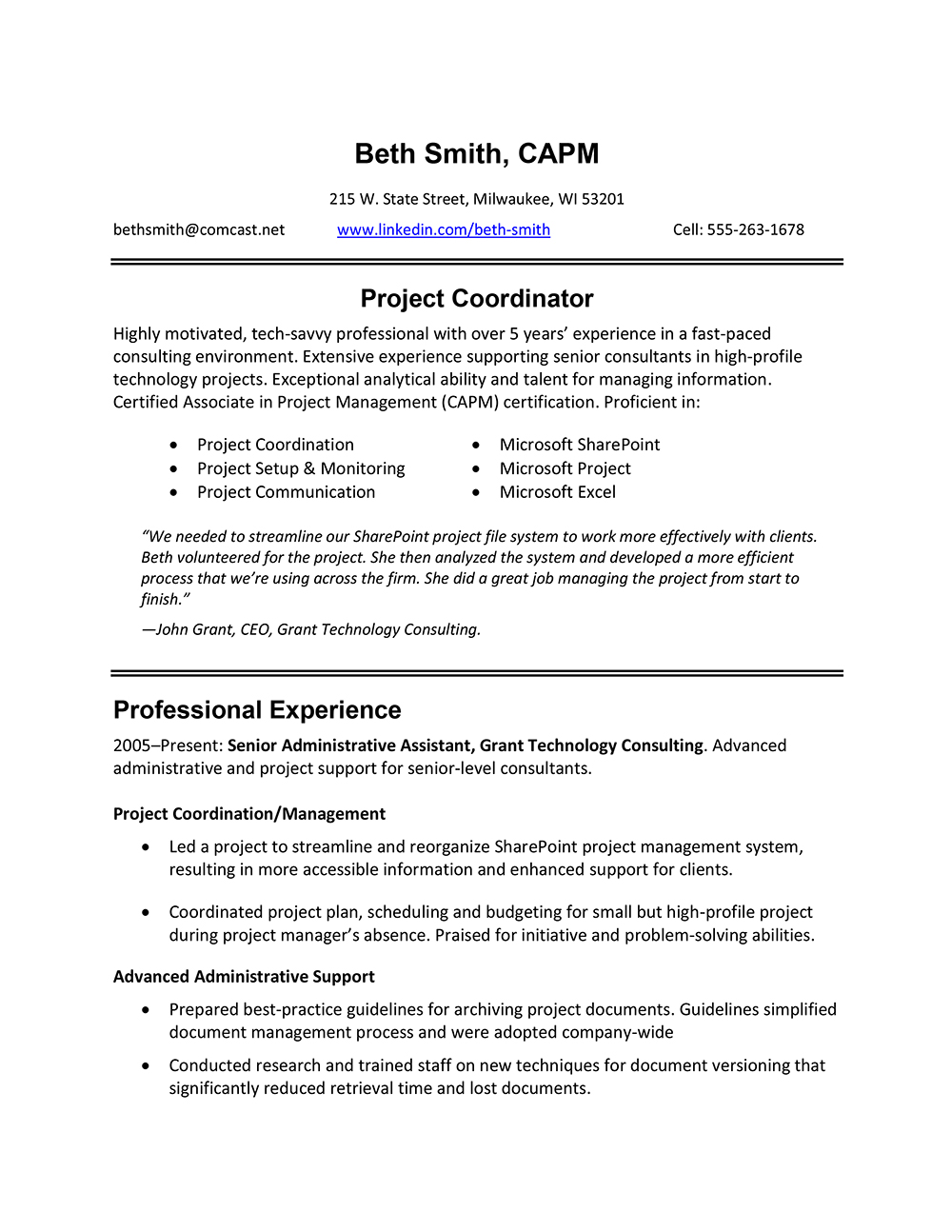 Best Professional Resume Format      happytom co